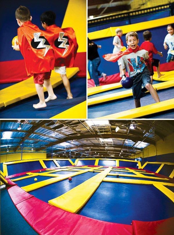 superhero party fun center