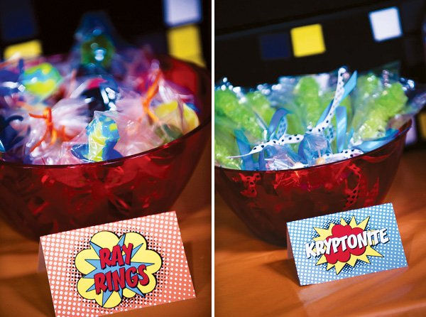 superhero party candy