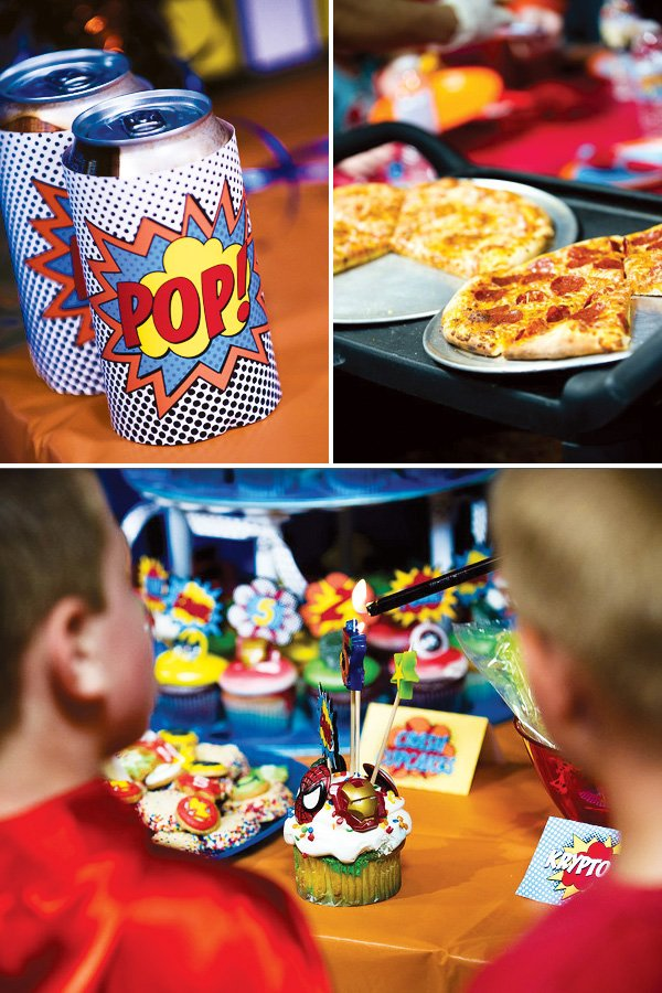 superhero party food and drinks