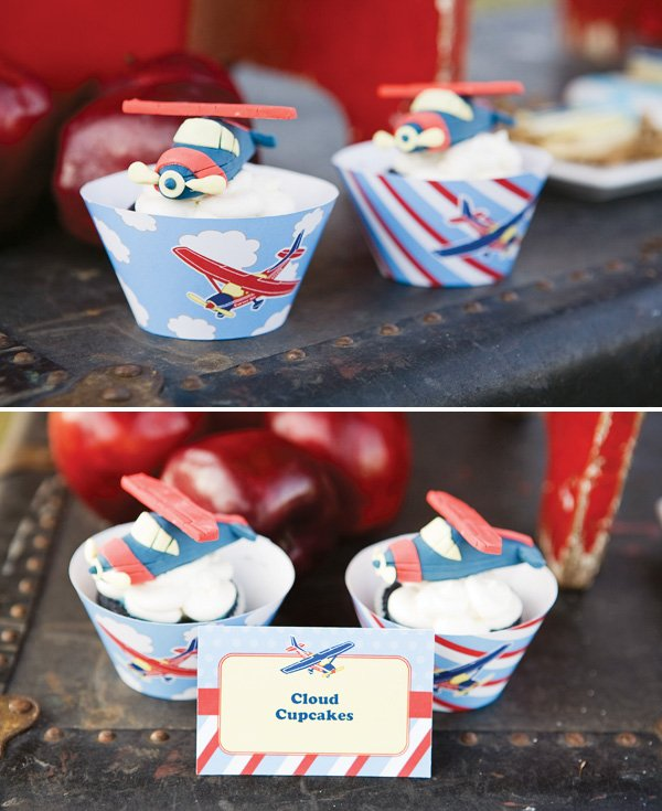 Cupcake liner printables and airplane cupcake toppers