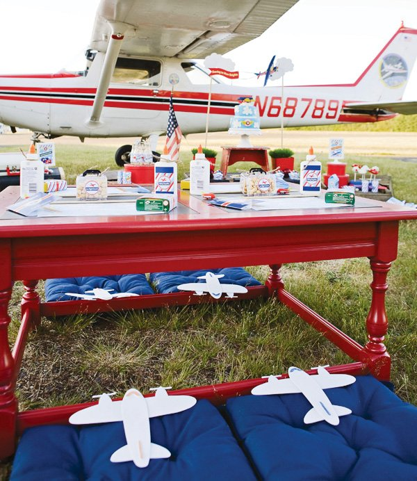 Airplane back to school party activities