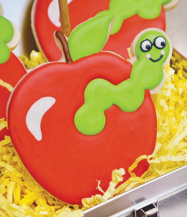 apple worm cookies
