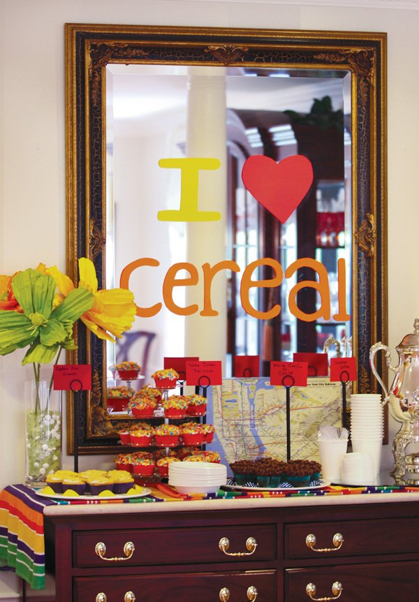 baby shower cereal bar
