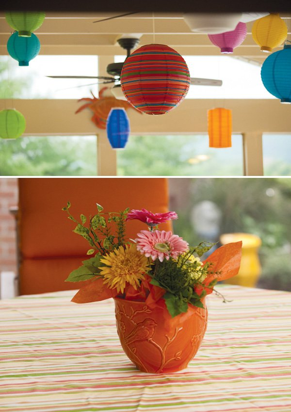 baby shower flower centerpiece
