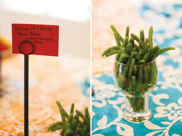 baby shower statue of liberty green beans
