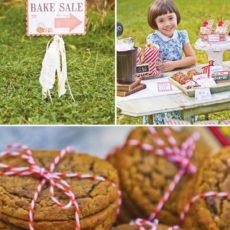 back to school bake sale cookies