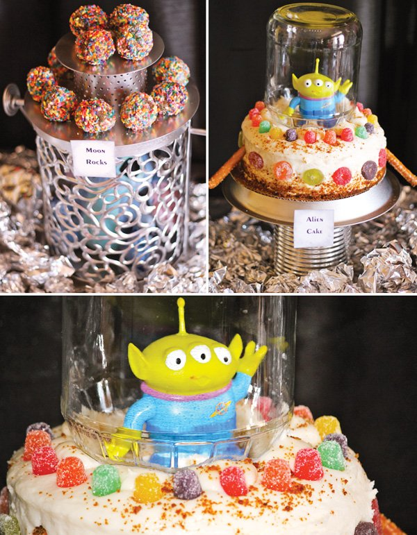 blast off alien dessert table
