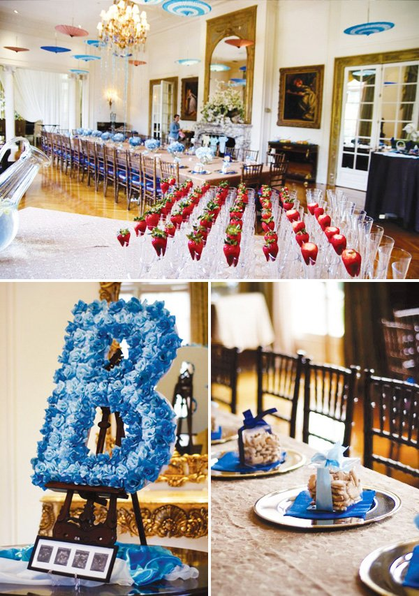 Elegant Blue Boy Baby Shower Ideas Hostess With The Mostess