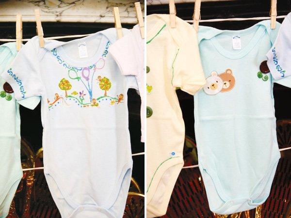blue boy baby shower onesies