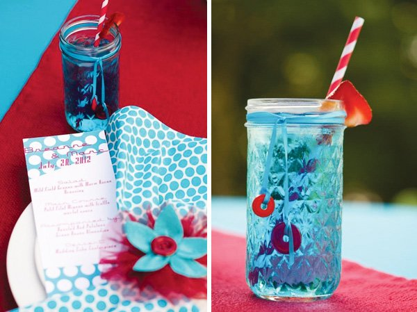 blue mason jar drinks