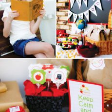"""Back to school dessert table with """"Keep Calm and Read On"""" printables"""