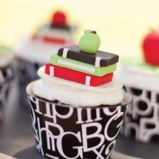 book worm cupcakes for a back to school party