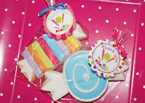 candy shoppe birthday favors