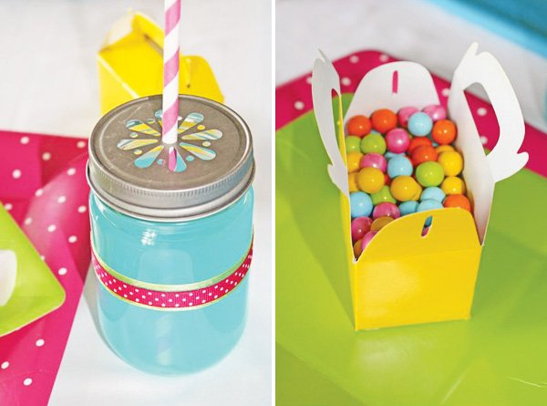 candy shoppe party mason jars