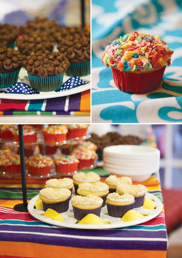 cereal bar cupcakes