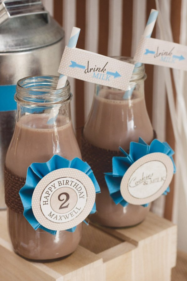 chocolate milk straw flags