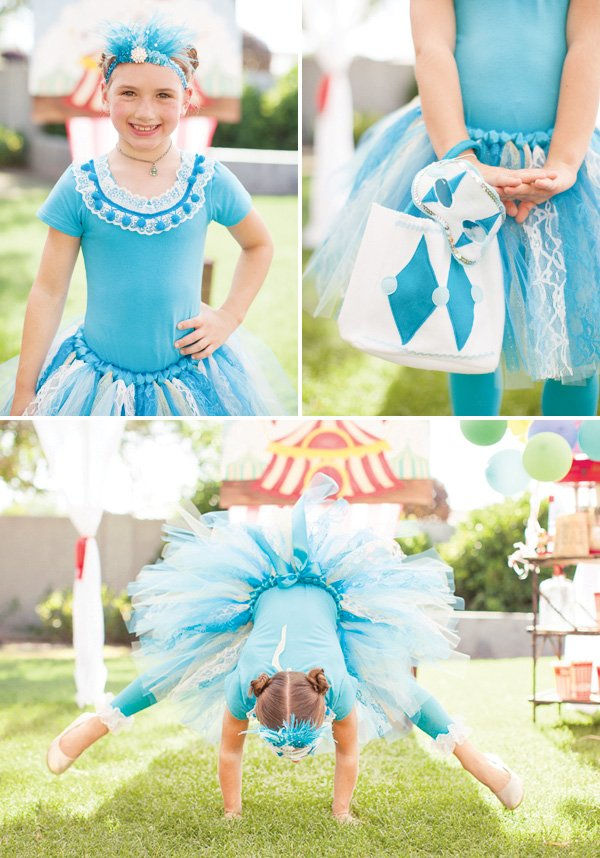 blue circus gymnast costume