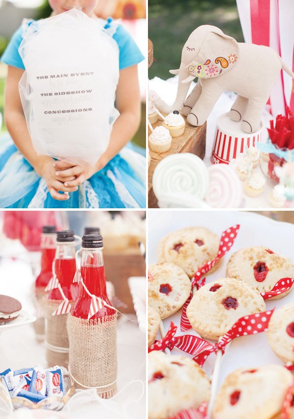 circus party desserts and drinks