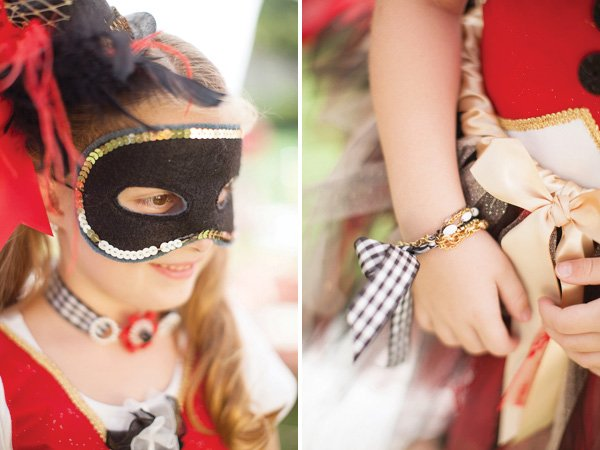 circus costume and a matching bracelet