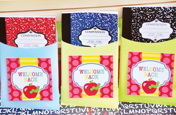 composition notebook party favors