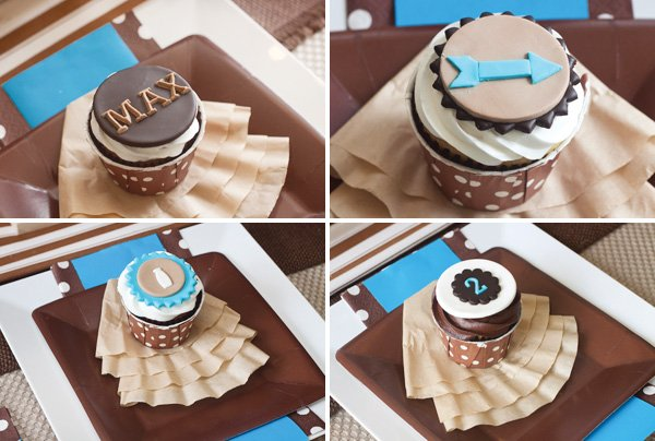 cookie party cupcake toppers