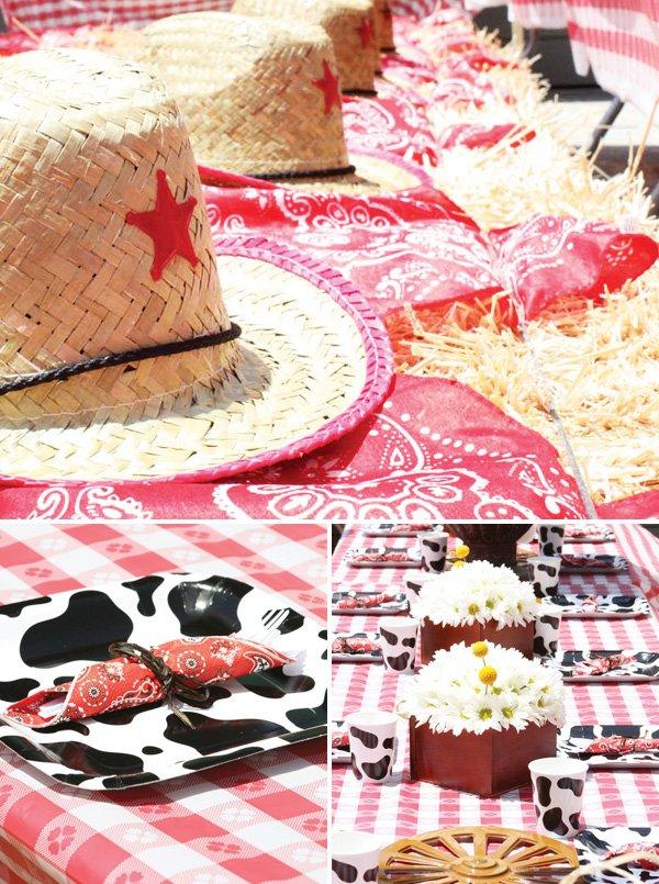 cowboy party tablescape