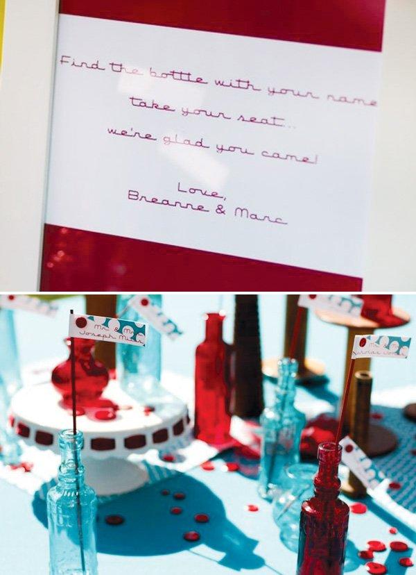 crafty wedding escort card ideas