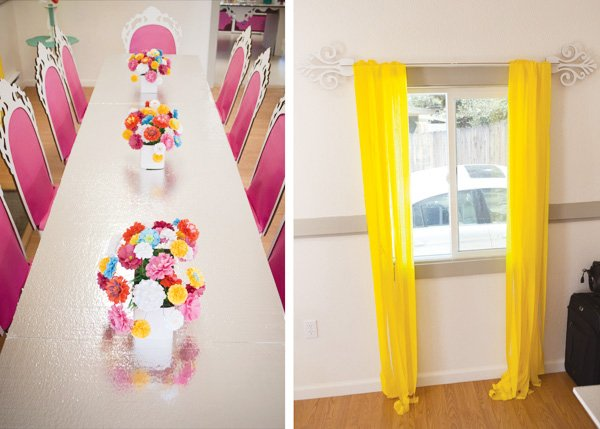 crepe paper curtains diy