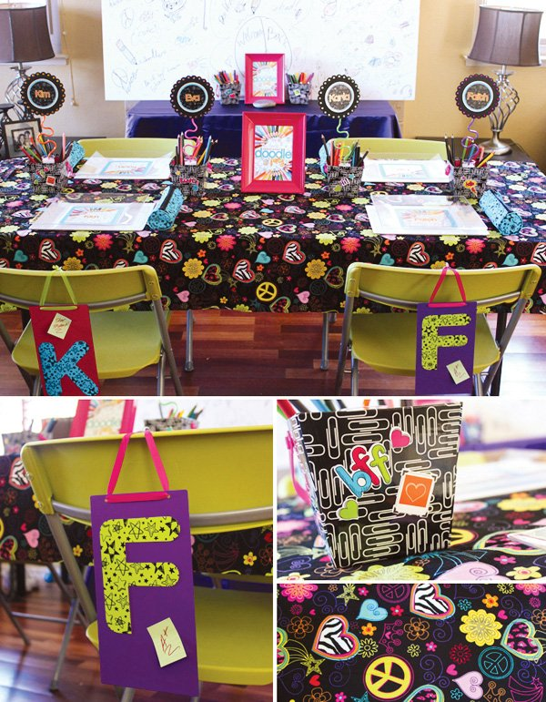 doodle party back to school theme