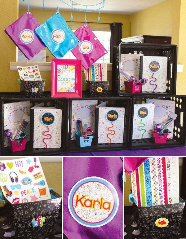 doodle party favors