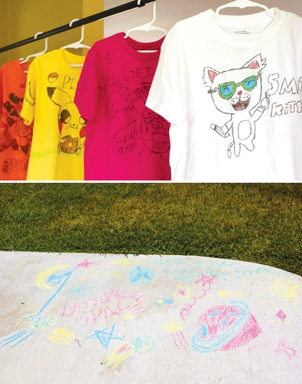 doodle party sidewalk chalk