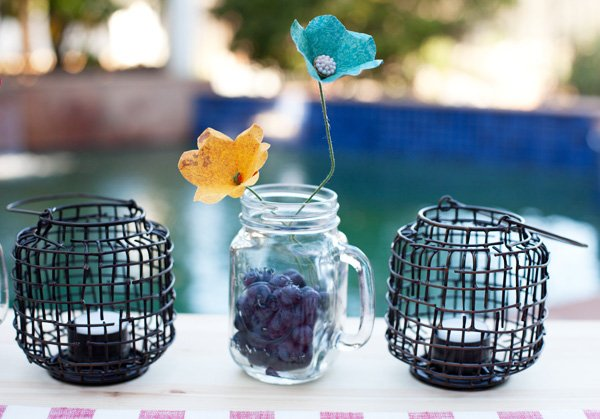mason jar mug centerpiece