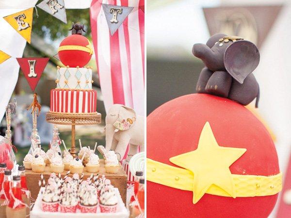 elephant circus cake topper
