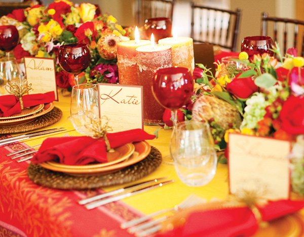 fall dinner party name cards