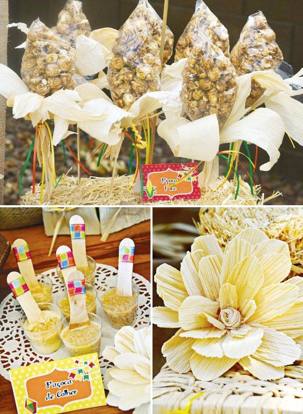 festa junina corn husk popcorn