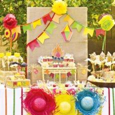 festa junina dessert table