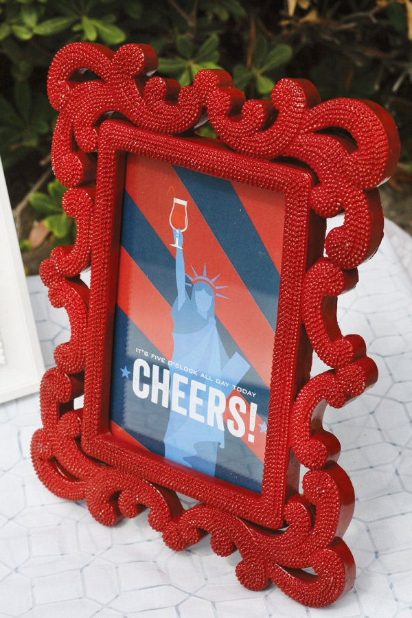 free labor day party printables - patriotic drink sign