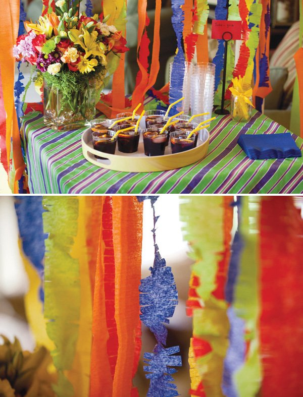 fringed rainbow streamers