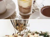 frosted winter hot cocoa bar