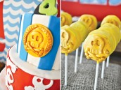gold coin skull cake pops