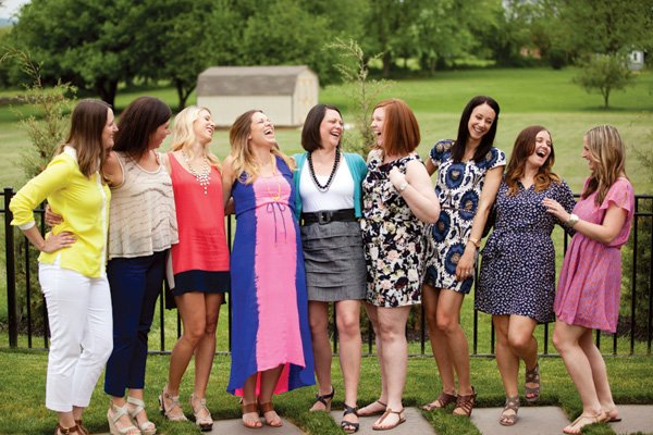 group baby shower picture