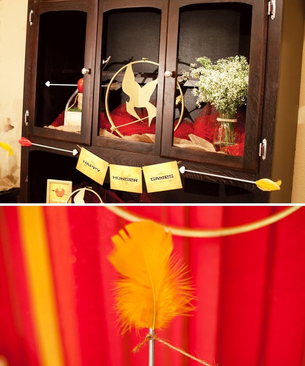 hunger games banner and party decorations
