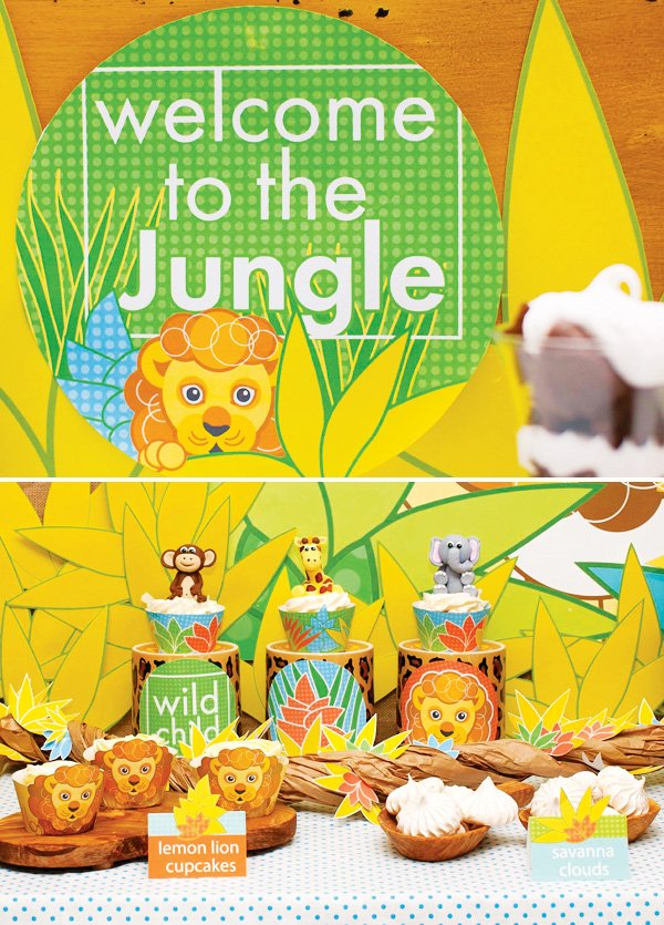 jungle animal dessert fondants