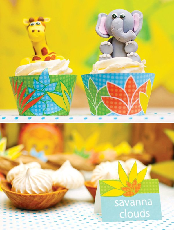 jungle animal cupcakes and desserts