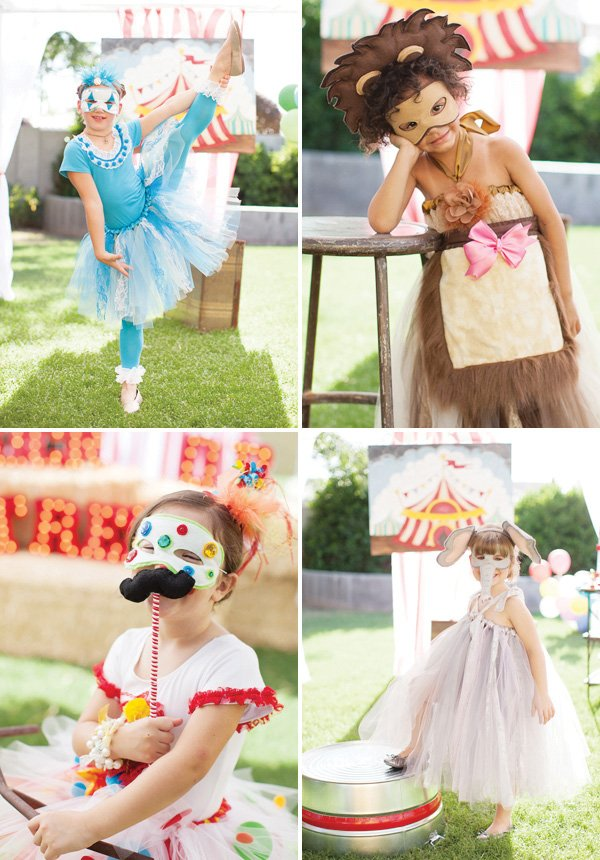 Kid circus costumes  sc 1 st  HWTM.com & Under the Big Top Circus Party + Kids Costumes // Hostess with ...