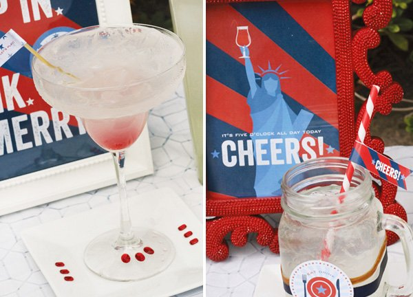 labor day cocktails and printables