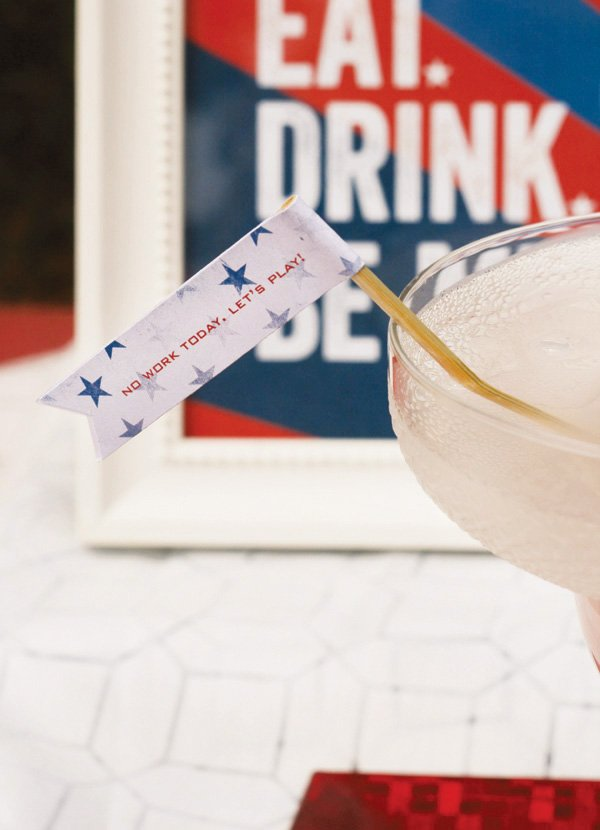 free labor day party printables - drink flags