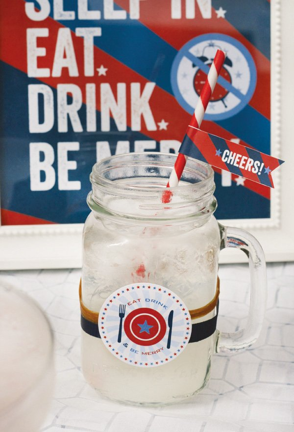 labor day cocktails + free printables