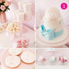 pink lady bird dessert table