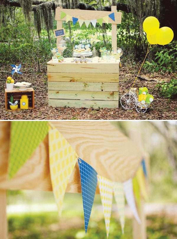 lemonade stand party bunting